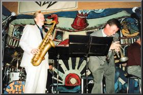 Geoff with Ben Jones,Launceston Jazz Club(TAS) 2001