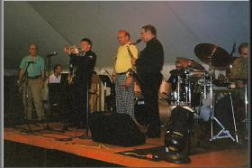Geoff with Paris Washboard, Great Connecticut Jazz Festival, 2001
